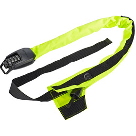 Hiplok Spin candado de cadena 6mm, neon yellow